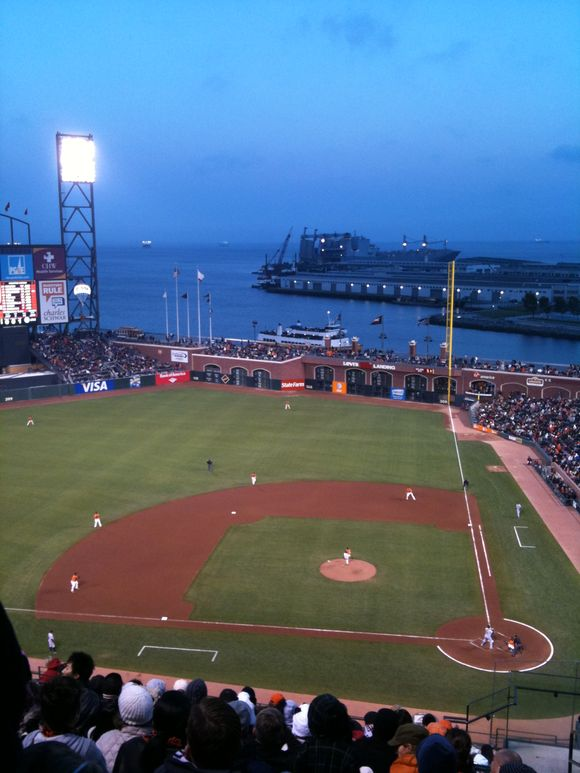 At the giants game